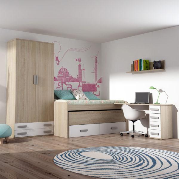 3-Dormitorio juvenil cambrian-blanco